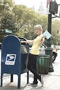 young lifestyle teenager mailing letter
